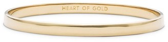 Kate Spade Heart Of Gold Engraved Idiom Bangle Bracelet
