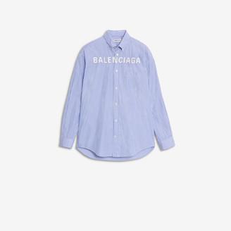 Balenciaga Logo Button Down Shirt