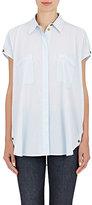 Helmut Lang Women's Open-Shoulder Shirt-LIGHT BLUE