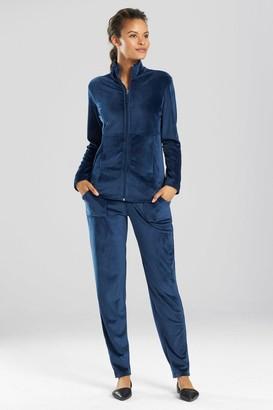 Natori Velour Zip-Up Jacket