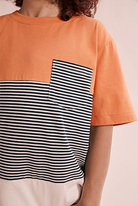 Country Road Organically Grown Cotton Block Stripe T-Shirt