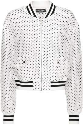 Dolce & Gabbana Polka-dotted silk bomber jacket