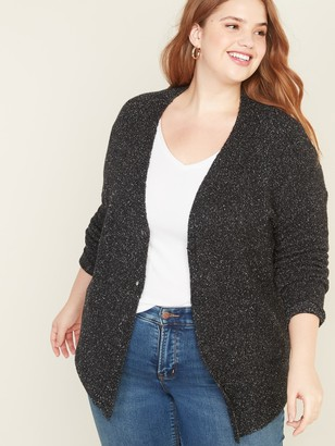 Old Navy Plus-Size Button-Front Marled Cardi
