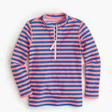J.Crew Girls' zipper rash guard in bright stripe
