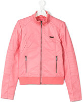 Vingino zipped bomber jacket - kids - Polyester/Polyurethane/Viscose - 14 yrs