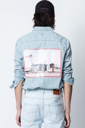 Zadig & Voltaire Sala Denim Photoprint Shirt