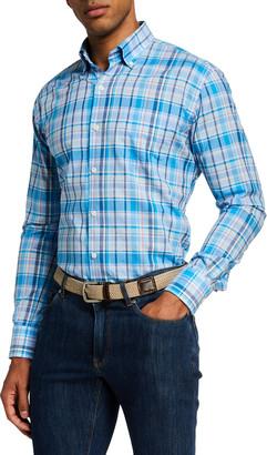 Peter Millar Men's Dorian Plaid Sport Shirt