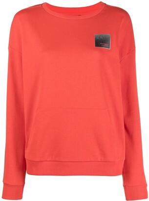 Armani Exchange Logo-Patch Round Neck Sweatshirt