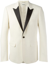 Saint Laurent peaked lapel monochrome blazer - men - Silk/Viscose/Wool - 48