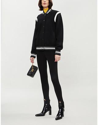 Givenchy Logo-appliqued wool jacket