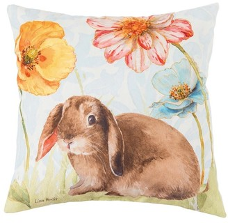 C&F Home Floppy Ear Bunny Spring Indoor/Outdoor 18x18 Accent Decorative Accent Throw Pillow