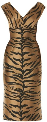 Carolina Herrera Sleeveless Animal-Print Sheath Dress
