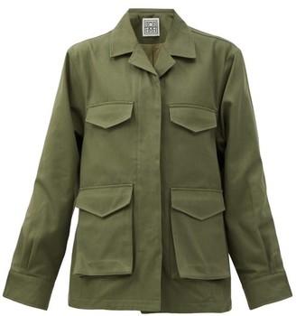 Totême Avignon Flap-pocket Cotton-twill Jacket - Khaki