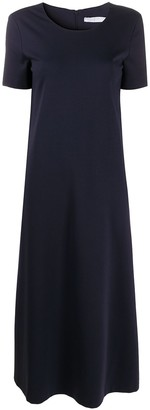 Harris Wharf London Short-Sleeved Flared Midi Dress