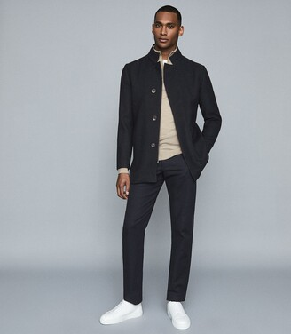 Reiss Acres - Twill Jacket in Navy