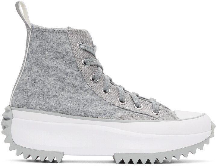 Thumbnail for your product : Converse Grey Run Star Hike High-Top Sneakers