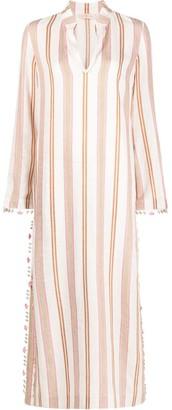 Tory Burch Pinstriped Maxi Dress