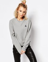 Le Coq Sportif Oversized Fit Gray Logo Sweatshirt
