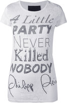 Philipp Plein slogan print T-shirt - women - Cotton/Polyester - XS