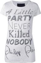 Philipp Plein slogan print T-shirt