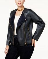 MICHAEL Michael Kors Size Faux-Leather Moto Jacket
