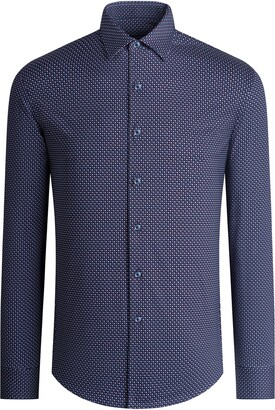 Bugatchi OoohCotton(R) Tech Regular Fit Button-Up Shirt