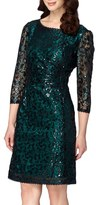 Tahari Petite Women's Sequin Lace Sheath Dress