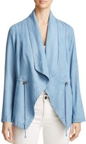 Bagatelle Draped Chambray Jacket - 100% Exclusive