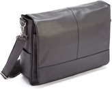 ROYCE New York Executive Suede Lined Laptop Messenger Bag In Gneuine Leather.