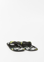 Dries Van Noten yellow thong sandal