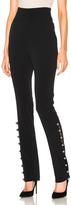 David Koma Loops & Metal Balls Hem Embroidered Trousers