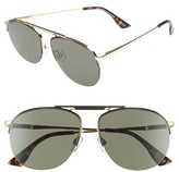 Le Specs Women's Liberation 57Mm Aviator Sunglasses - Dark Gold/ Tortoise