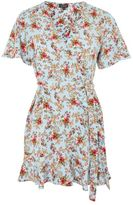 Petite confetti ditsy tea dress
