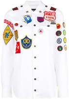 DSQUARED2 patch appliqué shirt