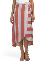 Juniors Blanket Striped Wrap Skirt