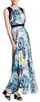 Sangria DBLP1178 Multi-Printed Jewel A-line Dress