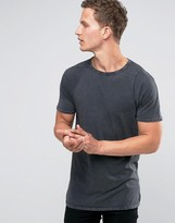 Selected Crew Neck Longline T-shirt