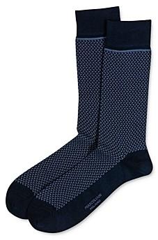 Marcoliani Milano Triangle-Jacquard Crew Socks