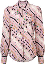 Marc Jacobs patterned blouse - women - Silk - 6