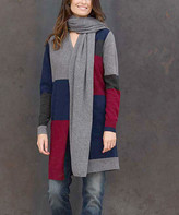 Colour Works By In Cashmere Colour Works by In Cashmere Women's Accent Scarves Mid - Mid Heather Gray Cashmere Scarf