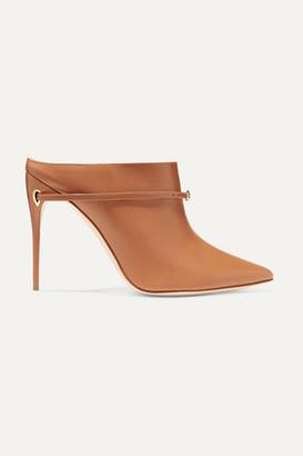Jennifer Chamandi Alberto 105 Leather Mules - Tan