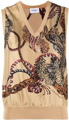 Salvatore Ferragamo Printed Sleeveless Top