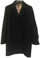 MSGM Black Wool Coats