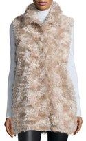 Sofia Cashmere Mohair Hidden-Placket Vest
