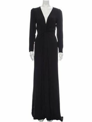 Reformation V-Neck Long Dress w/ Tags Black