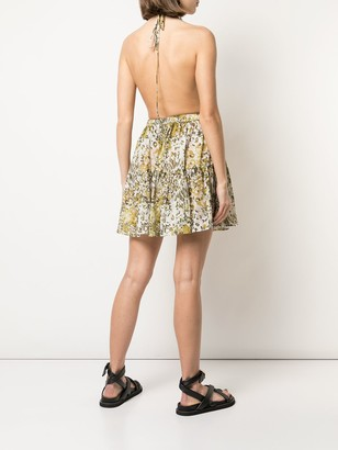 On The Island floral-print open-back dress