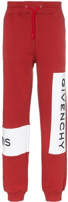 Givenchy Brick Red Large Logo Embroidered Sweatpants