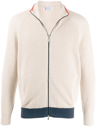 Brunello Cucinelli Zip-Up Knit Cardigan
