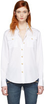 Balmain White Gold Button Shirt