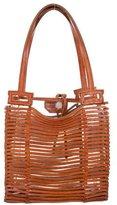 Salvatore Ferragamo Leather Bamboo Series Bag